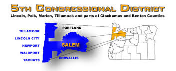 map oregon 5th congressional district 5th congressional district