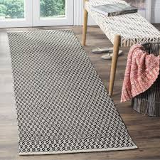 2 X 6 Runner Rugs Safavieh Montauk Transitional Geometric Woven Cotton Ivory