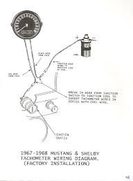 1967 mustang wiring to tachometer mustang tachometer