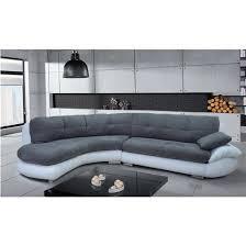 canapé d angle arrondi canapé d angle regal gris et blanc angle gauche achat vente