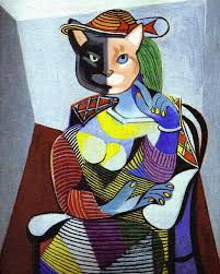 venus the two faced cat as portrait of marie therese by pablo picasso