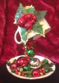 jingle bells floating teacup by debs raybould tazas decoradas