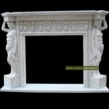 contemporary fireplace surrounds with grapevine carving and