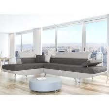 canapé d angle bi matière 470 sur canapé d angle gauche convertible avec coffre bi matière