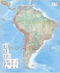 south america map atlas digital vector south america map deluxe political road rail map