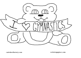 girls coloring pages tumbling coloring