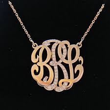 monogram initial necklace gold 52 monogram diamond necklace monogram bar necklace with diamond and