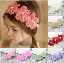 how to make baby flower headbands hot baby european flower headbands pretty infant glitter