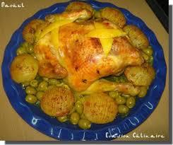 cuisine marocaine poulet aux olives poulet rôti aux olives à la marocaine et ses pommes de terre fondantes