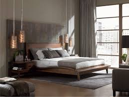 rustic chic bedroom ideas oval shaped glass nightstand tables