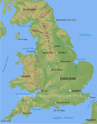 Map Of England And Scotland by England Physical Map