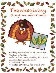 thanksgiving story time snack craft 10 30 11 30 10 child