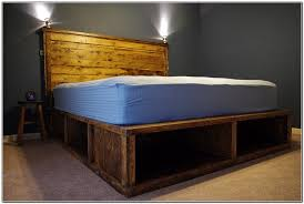 wood platform bed frame with storage u2014 modern storage twin bed