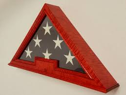 Wooden American Flag Wall Hanging Custom Us Flag Display Cases Boxes Military Medals Display Cases