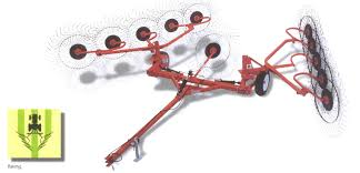 v type hay rakes tow behind and three point hitch models