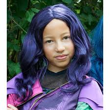wigs for halloween buy disney u0027s descendants mal wig for girls