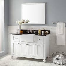 Bathroom Sink And Mirror 48 Nellie Farmhouse Sink Vanity White Bathroom
