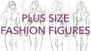 how to draw plus size fashion figures youtube