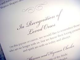 wedding memorial wording remembering loved ones at wedding ceremony wedding tips and