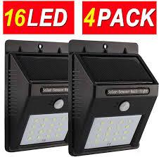 Solar Security Motion Sensor Light by Amazon Com Solar Lights Motion Sensor Light Security Light