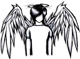 emo angel coloring pages designs canvas goth punk type stuff