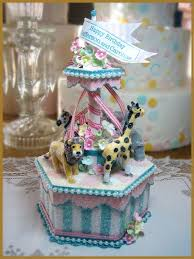carousel cake topper birthday minish designs