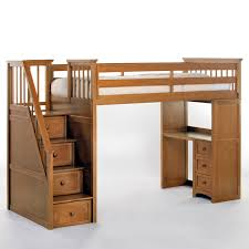 Kids Loft Beds With Desk And Stairs by Ne Kids Schoolhouse Stairway Loft Bed Pecan Hayneedle