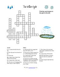 the water cycle crossword puzzle worksheet resources 2 4