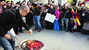 Made In China American Flags China Flag Burning By Chinese American Tibetan Uprising Day In