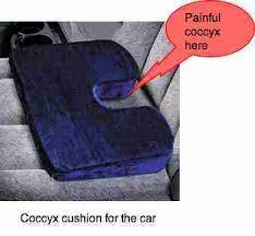coccyx pillow takes the pressure off the subluxated or bruised