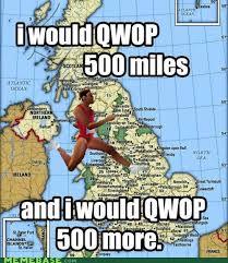 Qwop Meme - i would qwop 500 miles funscrape