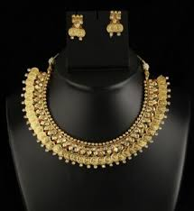 pattern gold necklace images Necklace set gold finish coin pattern necklace set with stone jpg