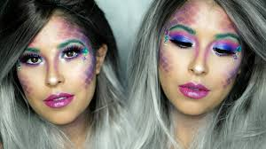 easy diy halloween mermaid makeup tutorial amber mancha youtube