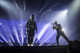 rapper drake house drake introduces u0027the greatest rapper u0027 eminem on stage in detroit