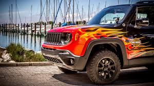 european jeep wrangler this jeep renegade is flaming celebrates 25th european h o g
