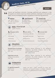 Sample Resume Yang Terbaik by Desain Cv Kreatif Contoh Cv Yang Baik