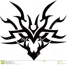 tribal tattoo vector design illustration face stock vector image