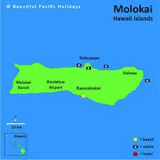 map of hawaii cities map of molokai island in the hawaiian islands