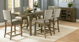 Upholstered Chairs Dining Room Omaha Counter Height Dining Set W Upholstered Chairs Grey