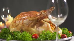 turkey dinner served on thanksgiving day panning right to left