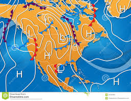 Map Of Nirth America by Weather Map Of North America Royalty Free Stock Image Image