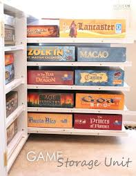 Diy Board Game Storage Units Stores Games On Pull Out Shelves In