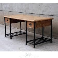 pipe desk with shelves iron pipe desk black iron pipe desk industrial computer desk shelves