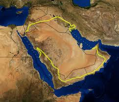 rub al khali map arabian desert
