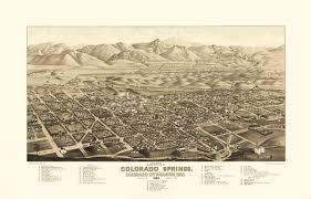 Colorado Springs Colorado Map by Vintage Map Colorado Springs Colorado 1882