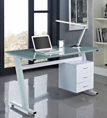 glass top desk with drawers cocinacentralco with frosted glass top