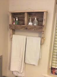 diy towel rack and shelf made from pallet