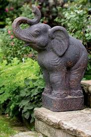 elephant garden statue 1575 rustic elephant garden statue made of