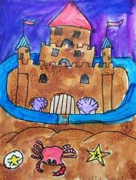 cute sandcastle with sand paper would be fun to put up as part