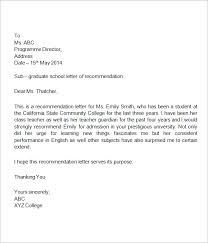 recommendation letter for elementary student cover letter